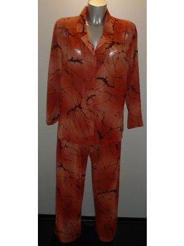 LingaDore LingaDore Ivanka Chiffon pyjama kleur terracotta met print kleur zwart mt M
