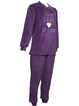 Lunatex Lunatex Louise velours damespyjama kleur purple mt M tm XXL