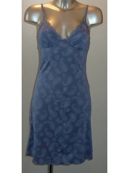 LingaDore LingaDore Juna nacht/strandjurkje kleur jeansblauw met print mt S of XL