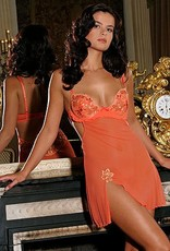 LingaDore LingaDore Divani Nachtjurkje met beugel & voorgevormde cup kleur oranje mt A80 of A85