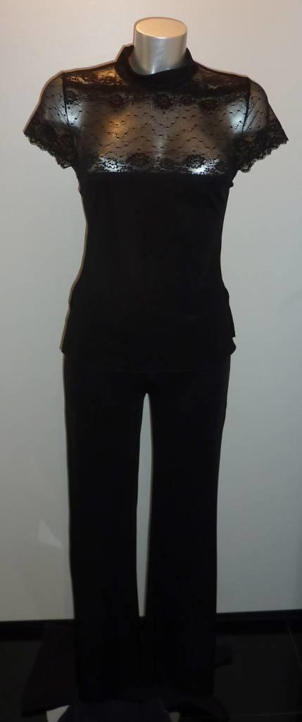LingaDore LingaDore Sensuale top met korte mouw & lange broek kleur zwart