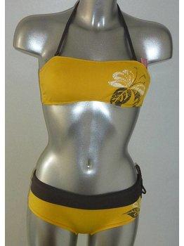 Banamoon Banamoon Marco After Bandeau bikinitop met shorty kleur geel mt 36 of 38