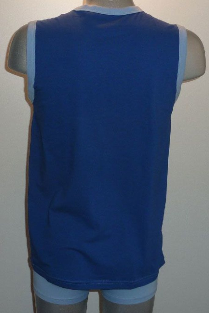 Dim ondergoed Dim Athletic Tanktop kleur wit met marineblauw mt L of kleur licht blauw mt S & L