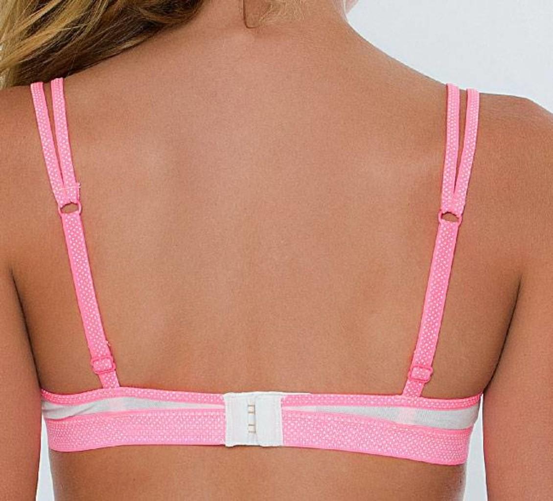 Boobs & Bloomers Boobs & Bloomers Anna katoenen Bh zonder beugel kleur wit gecombineerd met pink