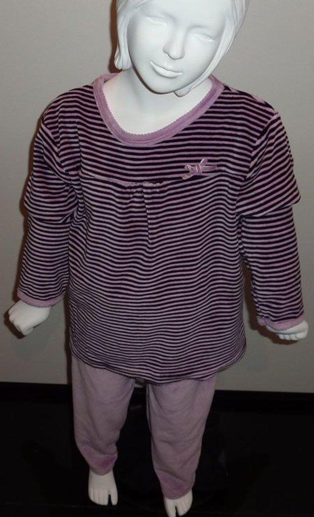 Lunatex Lunatex Evian velours meisjes pyjama aubergine mt 116 of lila