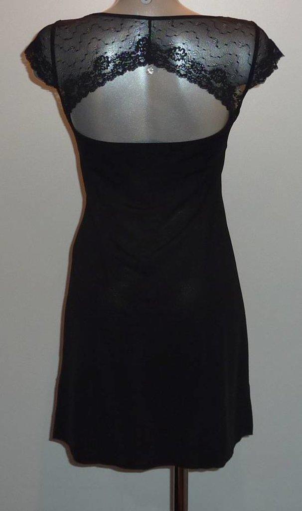 LingaDore LingaDore Sensuale Nachtjurkje met opengewerkte rug kleur zwart