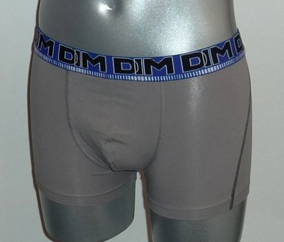 Dim ondergoed Dim 3D Flex Cotton Stretch boxershortset kleur kobaltblauw & grijs