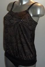 Amoena Amoena Cayman chloorbestendige prothese blouson tankinitop kleur zwart met brons