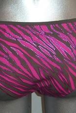 Sapph Sapph Beach Hanalei bikinitop met bijpassende slip pink zebraprint