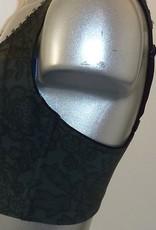 Susa Carlton zeer stevige Bh zonder beugel kleur groen met zwart gecombineerd