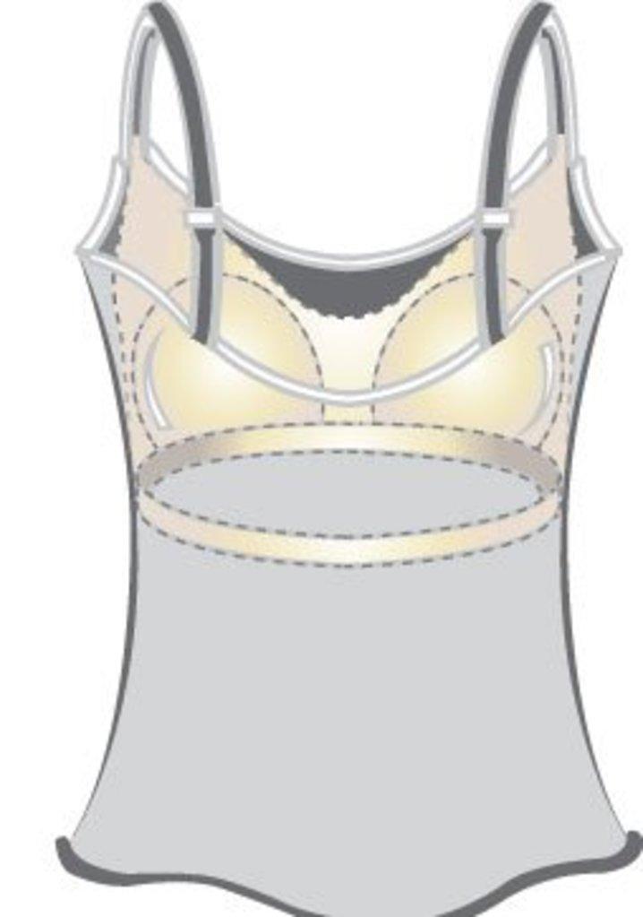 Amoena Amoena Valletta Prothese Top zonder beugel & licht voorgevormde cup kleur donker grijs melee