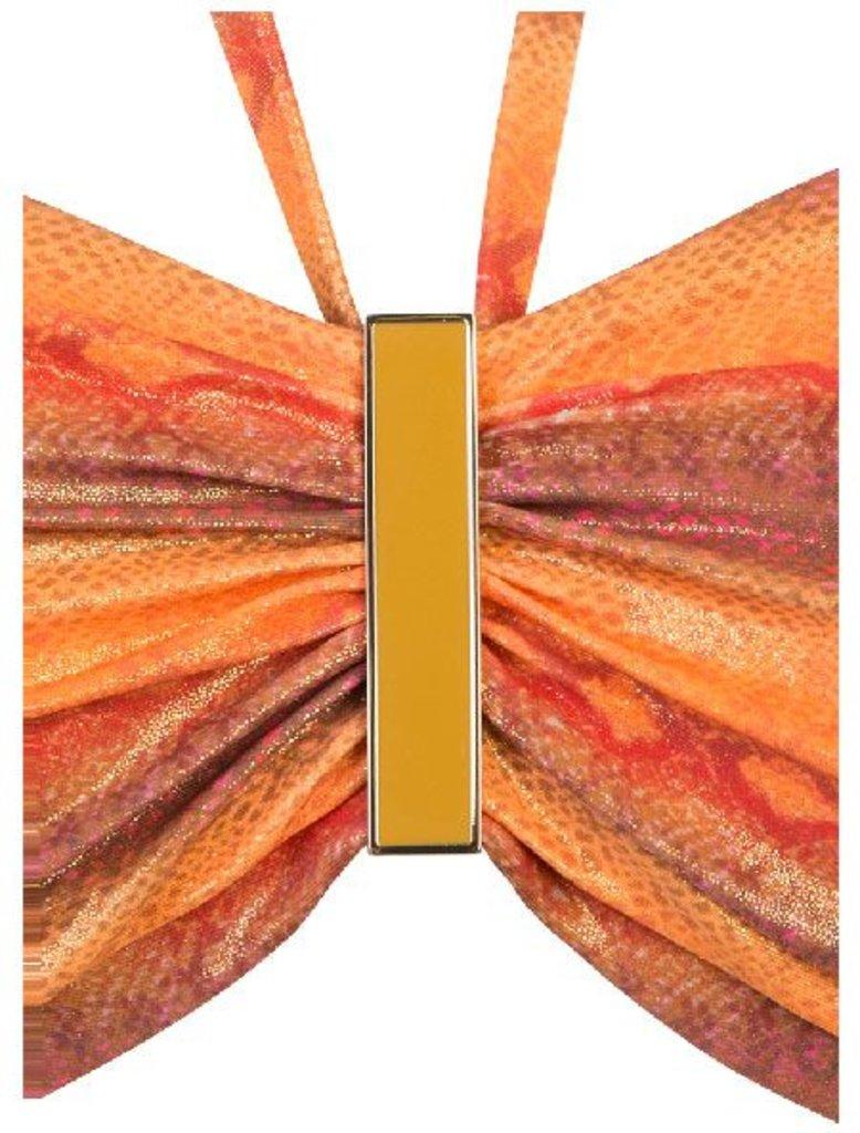 Sapph Sapph Beach Cinnamon bandeau beugel bikinitop & uitneembare onderpadding kleur oranje met snakeprint