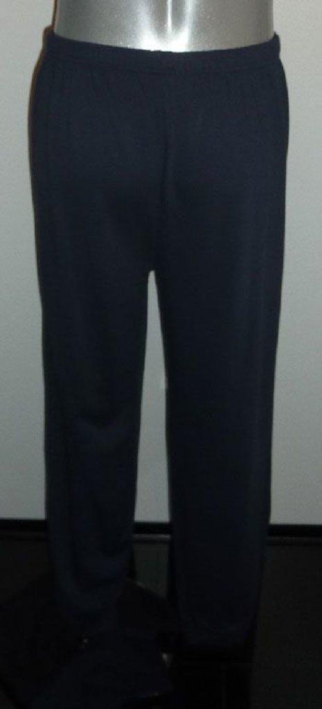 Lunatex Lunatex Garcia katoenen Single jersey herenpyjama marineblauw gecombineerd met wit