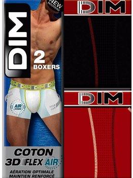 Dim ondergoed Dim Sport 3D Flex Air boxershortset in zwart & rood als set mt XXL