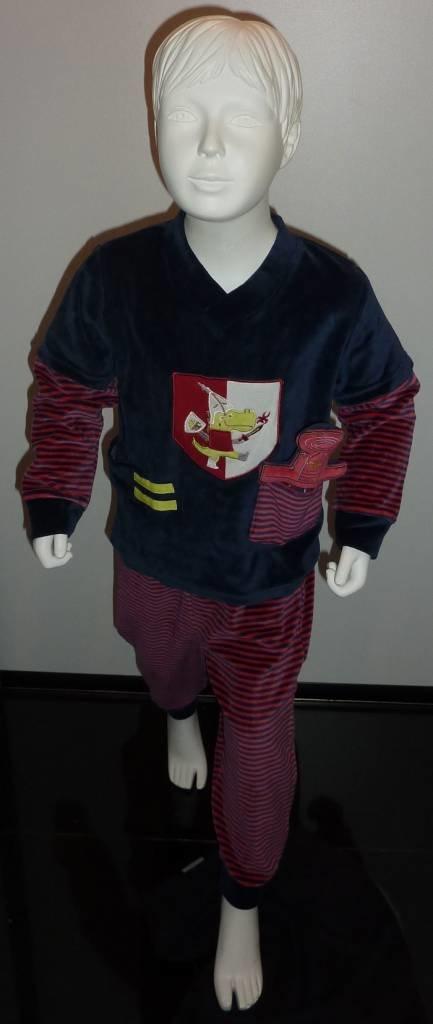 Lunatex Lunatex velours peuter pyjama & pluche zwaard, marine mt 92