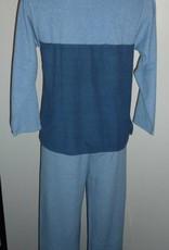 Pastunette Pastunette Delmy badstof pyjama/huispak kleur blauw mt S & M