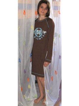 Pastunette Pastunette Linde Cotton Stretch Nachthemd kleur bruin