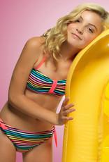 Boobs & Bloomers Boobs & Bloomers Janne Bandeaubikinitop & bikinibroekje in vrolijke streepprint