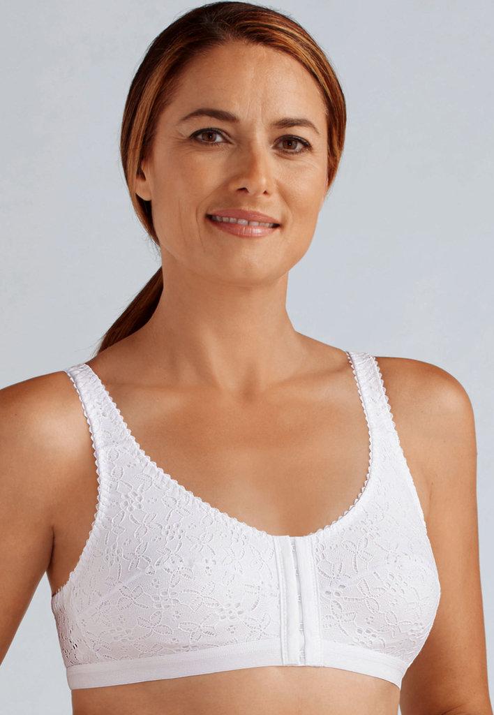 Amoena Amoena Sandra Recovery Care Bh met voorsluiting kleur wit mt S tm 4XL