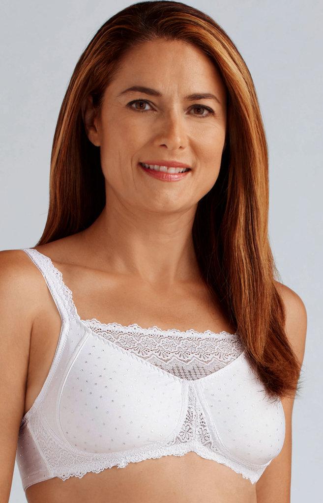 Amoena Amoena Dana Prothese Bh zonder beugel in wit & zwart