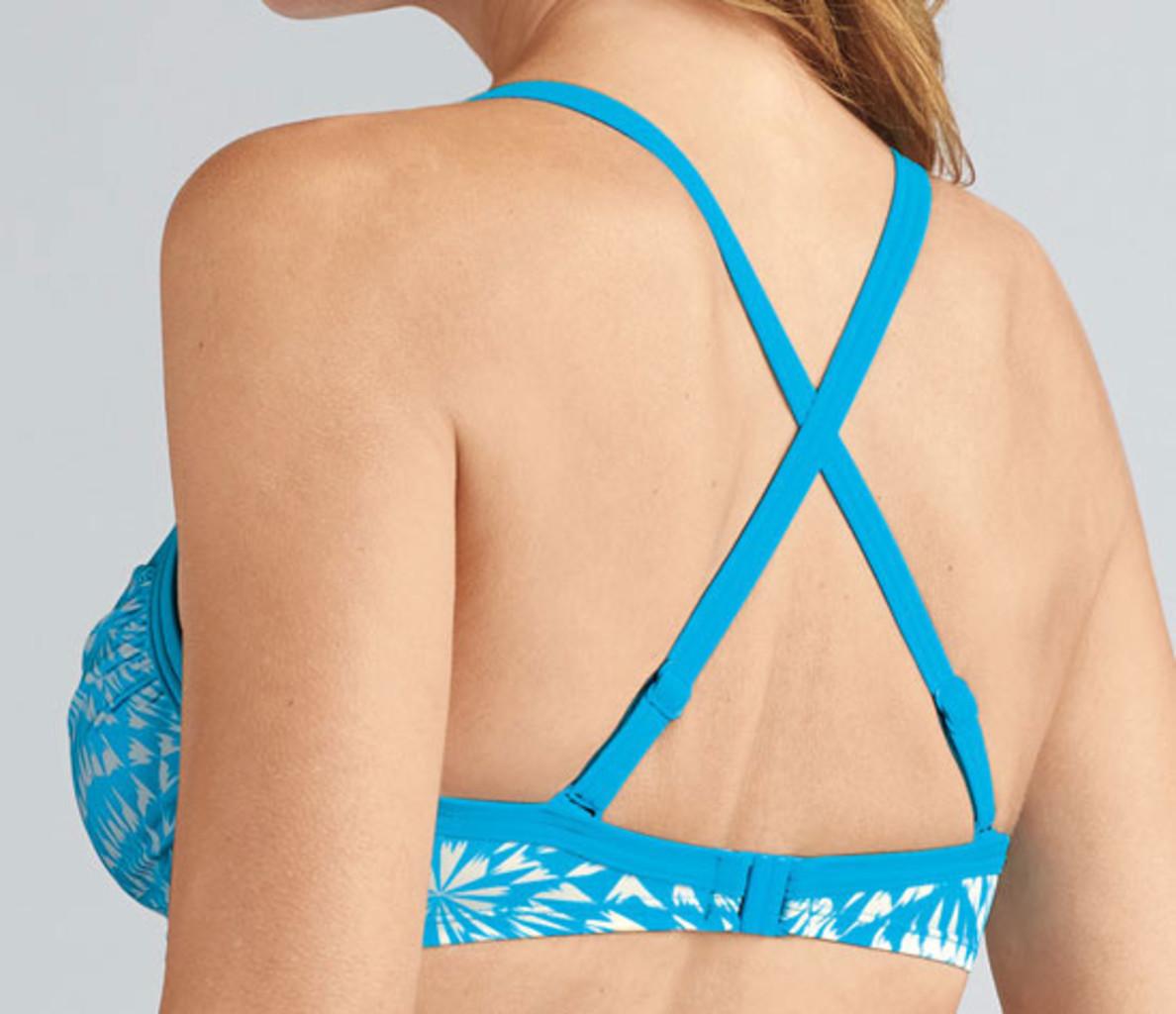 Amoena Amoena Hawaii prothese bikini zonder beugel kleur turqouise met wit