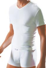Dim ondergoed Dim Smart Cotton Modal Tee-shirt met V hals kleur wit mt S of M of zwart mt S