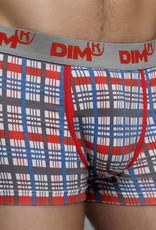 dim Dim Cotton Stretch boxershortset 1x ruitprint & 1x zwart mt L of XL