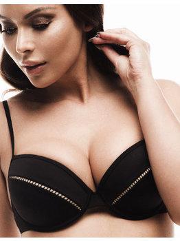 Sapph Sapph Xana Beach bikinitop met beugel & stevig voorgevormde cup kleur zwart