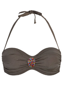 Sapph Sapph Beach Anise bandeau beugel bikinitop & uitneembare onderpadding kleur taupe