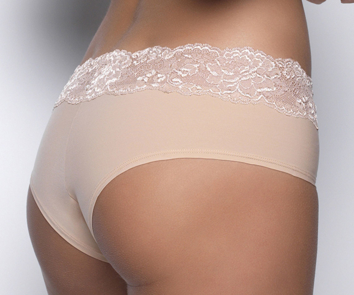 After Eden After Eden Sensitive Lace heupboxer kleur wit, zwart, poudre en pink