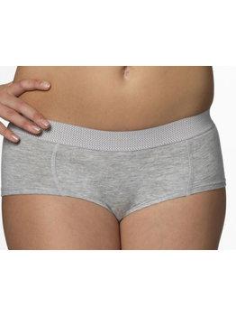 Boobs & Bloomers Boobs & Bloomers Audrey katoenen boxershort  kleur grijs