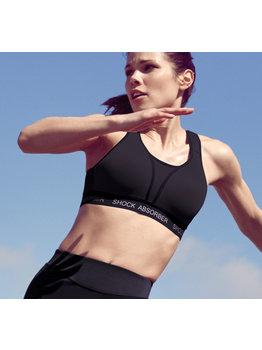 Shock Absorber Shock Absorber Run padded sport bh zonder beugel & licht gewicht padding in basis kleur zwart