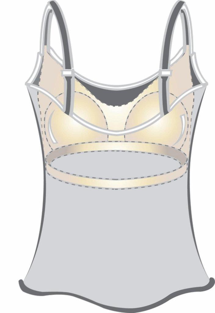 Amoena Amoena  plissee prothese T-shirt kleur champagne