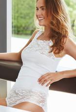 Nina von C Nina von C katoenen (prothese) top Jessy met breed elastisch kant kleur wit mt 38 t/m 50