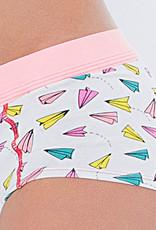 Boobs & Bloomers Boobs & Bloomers Audrey katoenen boxershort kleur wit met fantasieprint