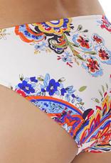 Freya Freya Rococo bikinislip basis kleur wit met zomerse paisly print