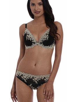 Wacoal Embrace Lace Plunge Bh met beugel & lichte voorvorm zwart met ecru kleurige borduursel