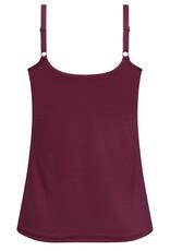 Amoena Amoena Valletta prothese top zonder beugel & licht voorgevormde cup kleur burgundy