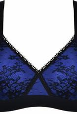Naturana Naturana Saria prothese Bh zonder beugel kleur zwart met purple gecombineerd