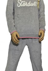 Lunatex Lunatex velours meisjes pyjama Felicia licht grijs of antracietgrijs