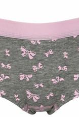 Boobs & Bloomers Boobs & Bloomers Daisy katoenen Boxershort kleur grijs met print strikjes kleur pink