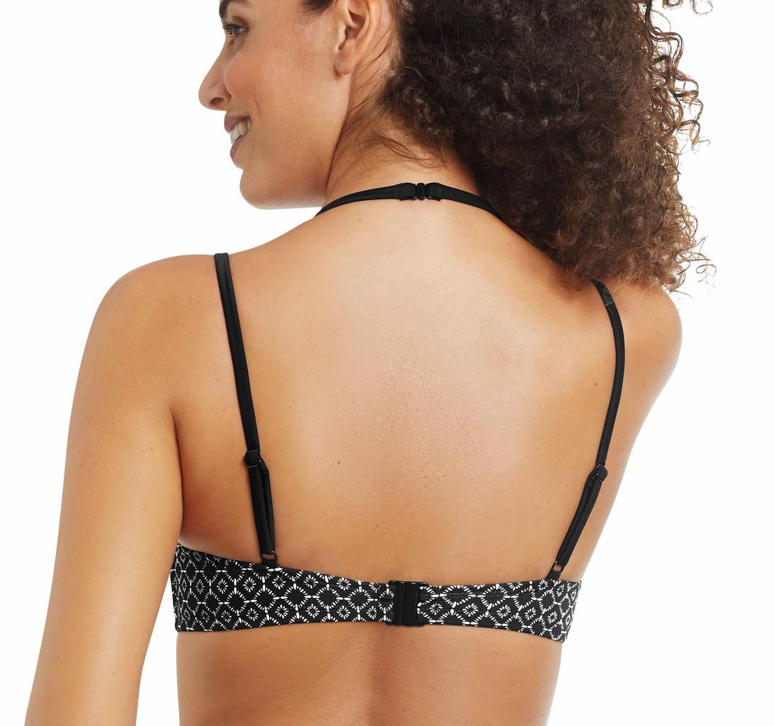 Amoena Amoena Ayon chloorbestendige prothese bikinitop zonder beugel zwart print wit