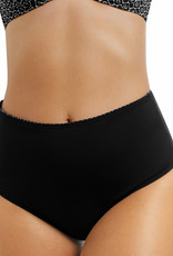 Amoena Amoena Ayon  hoge chloorbestendige bikinislip kleur zwart print wit
