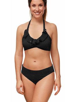 Amoena Amoena Romantic Downtown prothese bikinitop met reversibel bikinislip kleur zwart print stip wit