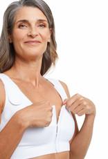Amoena Amoena Sina naadloze Postoperatieve Bh medium drukniveau met voorsluiting kleur zwart,wit of roze nude