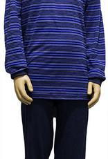 Lunatex Lunatex Jairo katoenen single Jersey jongenspyjama blauw met streepprint mt 164 of 176