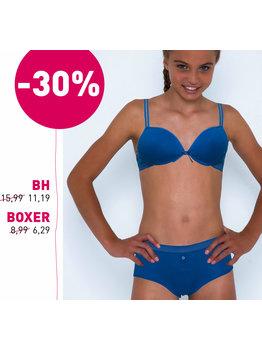 Boobs & Bloomers Boobs & Bloomers Audrey Bh zonder beugel & boxershort kleur kobaltblauw