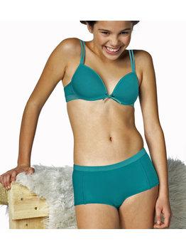 Boobs & Bloomers Boobs & Bloomers Audrey Bh zonder beugel & boxershort kleur turquoise groen
