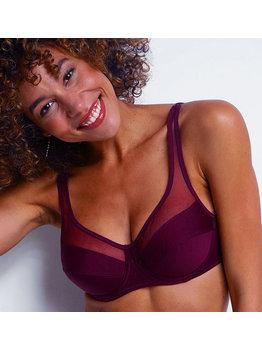 Dim ondergoed Dim Generous Classic Bh met beugel kleur burgundy