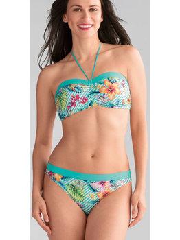 Amoena Amoena Honolulu prothese bikini zonder beugel & licht voorgevormd cup kleur turqouise met print bloem
